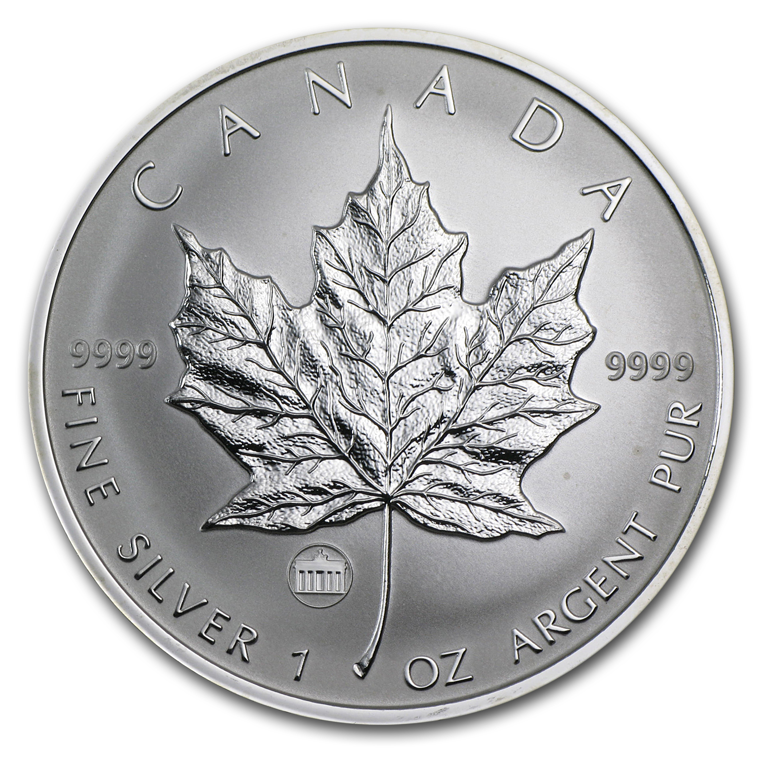 2009 1 oz Silver Canadian Maple Leaf - Brandenburg Gate Privy