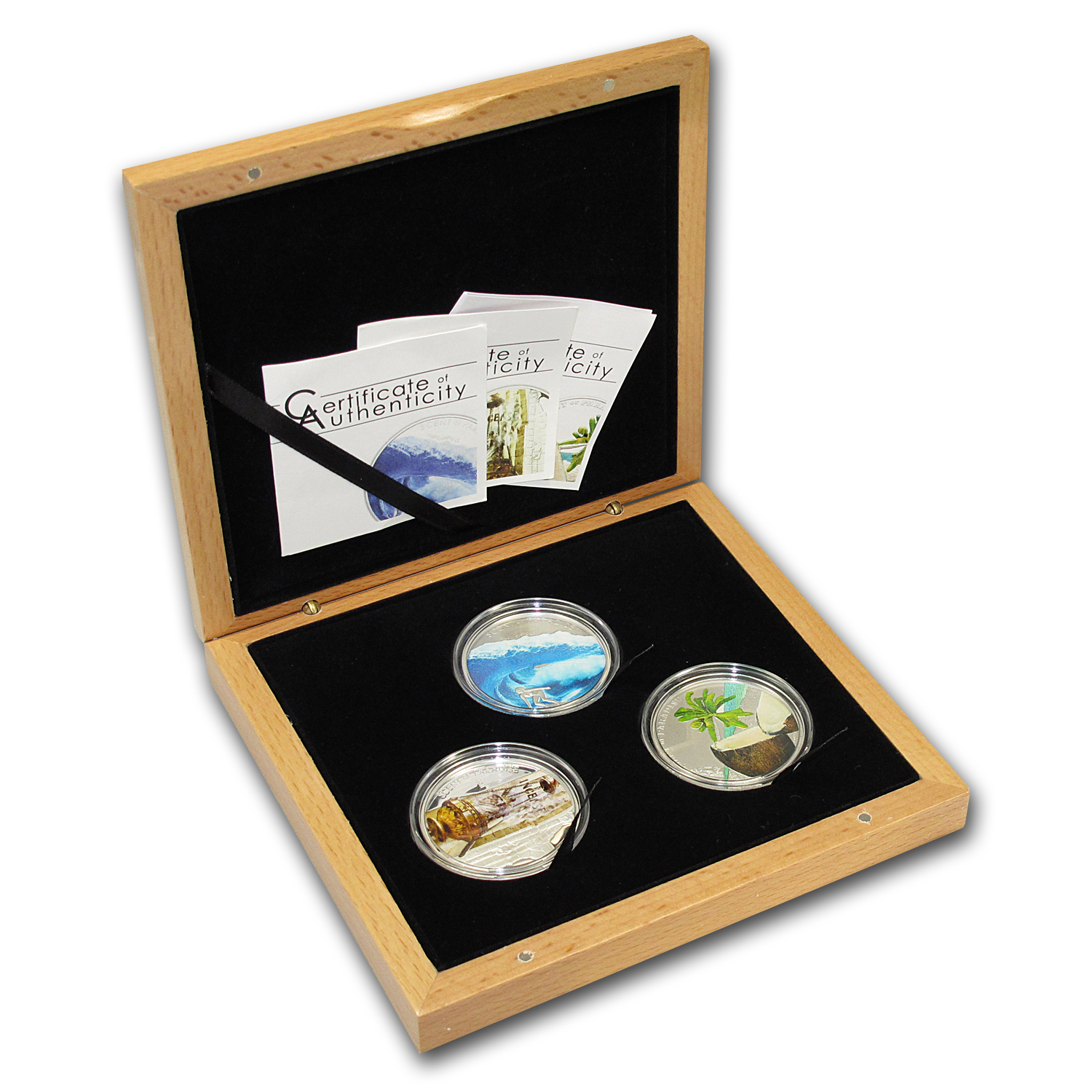 Palau 3-Coin Silver $5 Scents of Paradise Proof Set