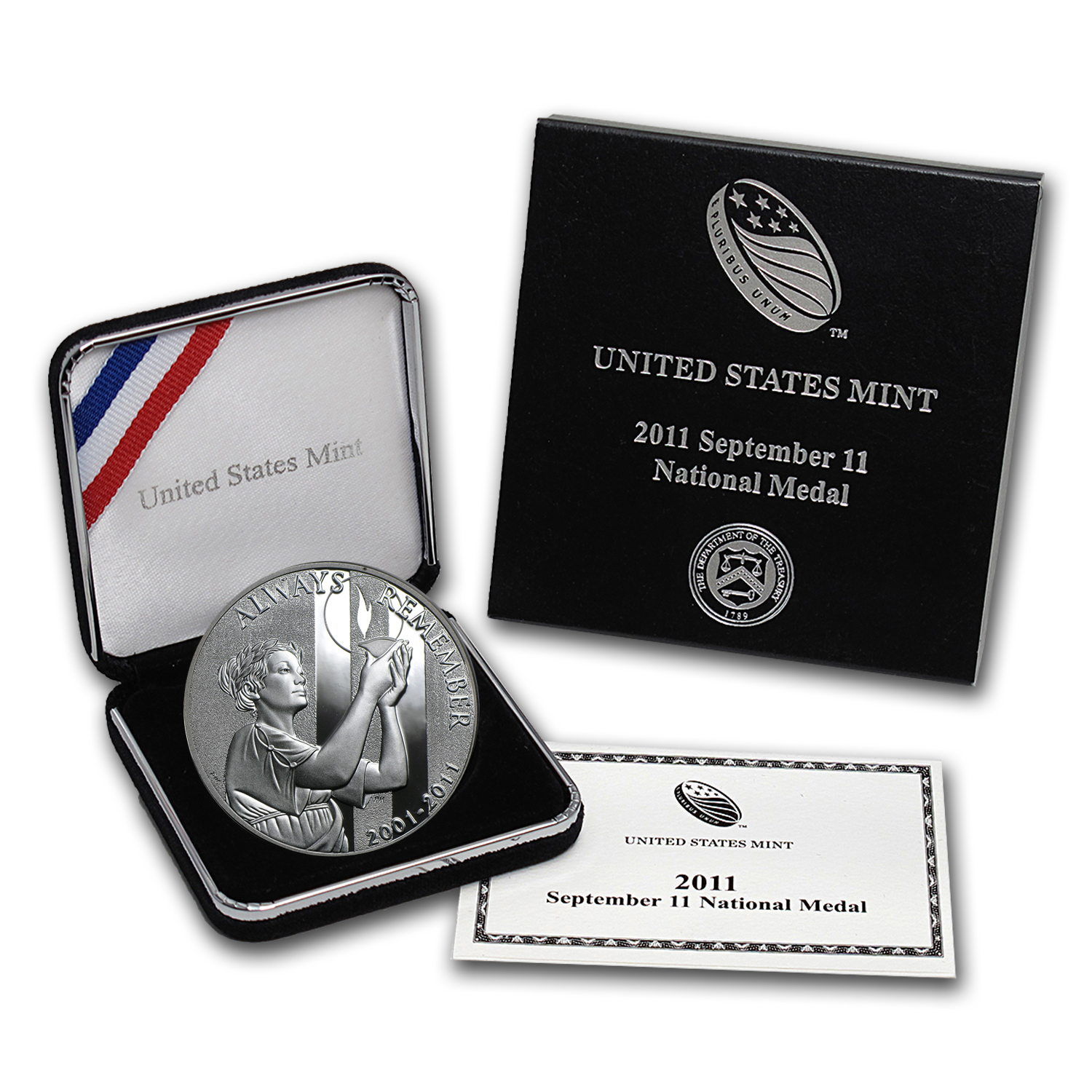 2011-W 9/11 National Medal Proof (w/Box & COA)