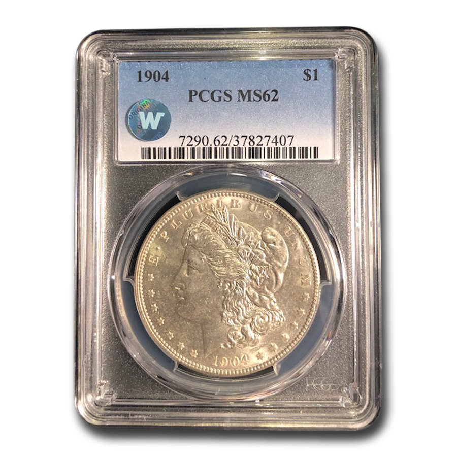 1904 Morgan Dollar MS-62 PCGS
