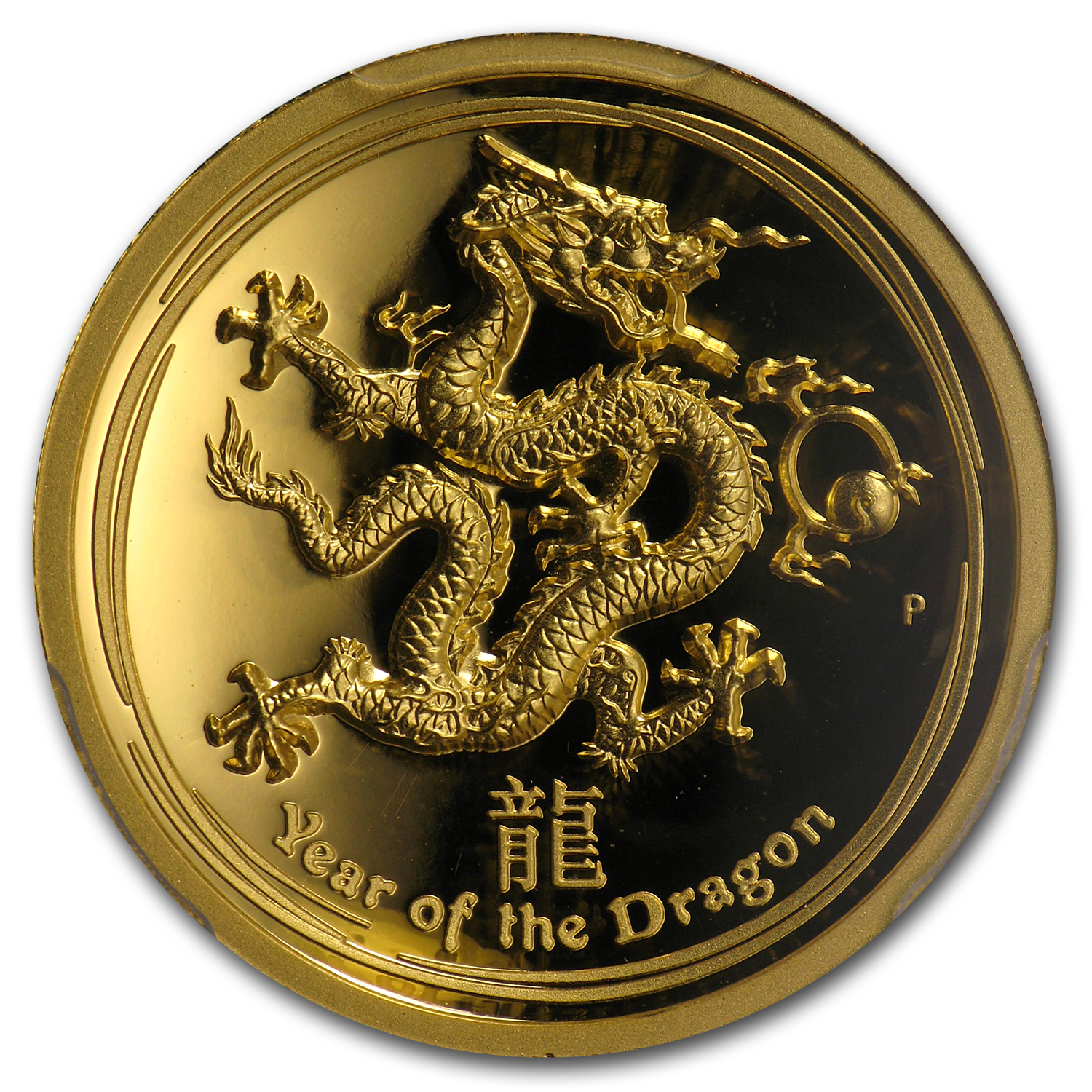 2012 1 oz Gold Dragon PR-70 PCGS (Ultra High Relief)