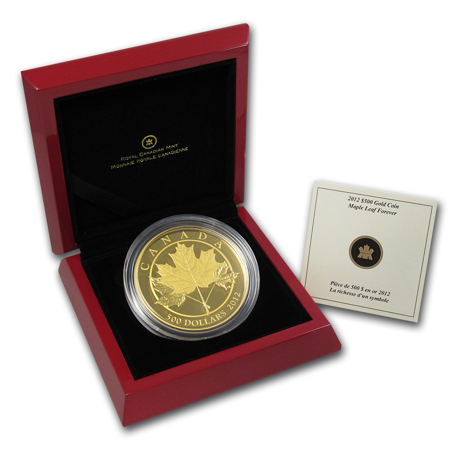 2012 5 oz Gold Canadian $500 Maple Leaf Forever - Proof