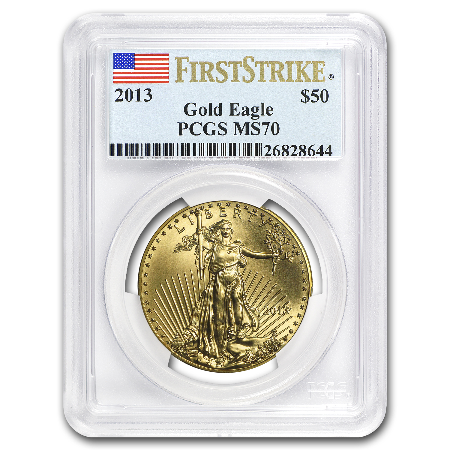 2013 1 oz Gold American Eagle MS-70 PCGS (FS)