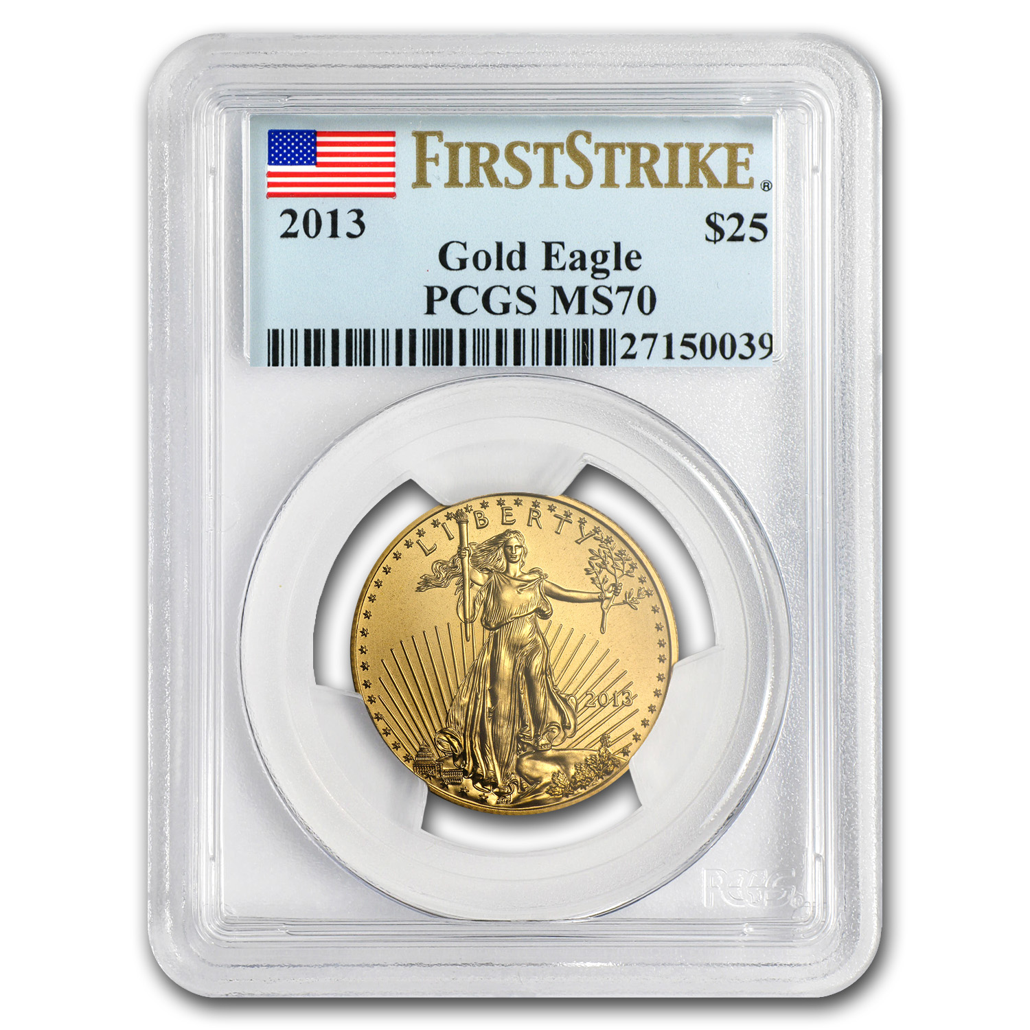 2013 1/2 oz Gold American Eagle MS-70 PCGS (FS)