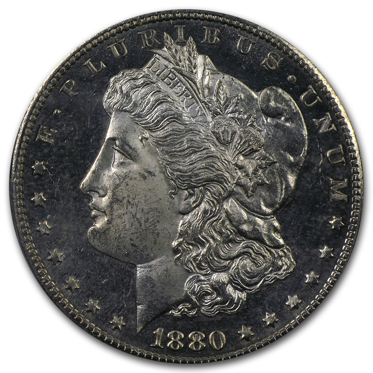 1880/79-S Morgan Dollar MS-63 PL Proof Like PCGS Overdate Top-100