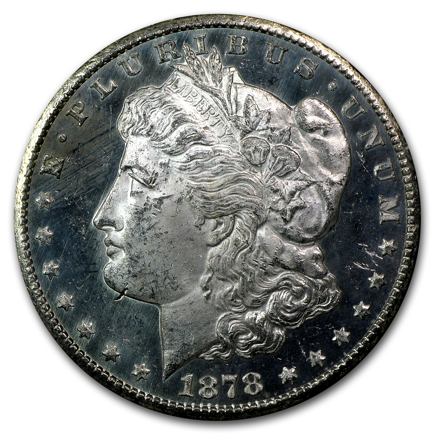 1878-CC Morgan Dollar MS-62 PL NGC (GSA Certified)