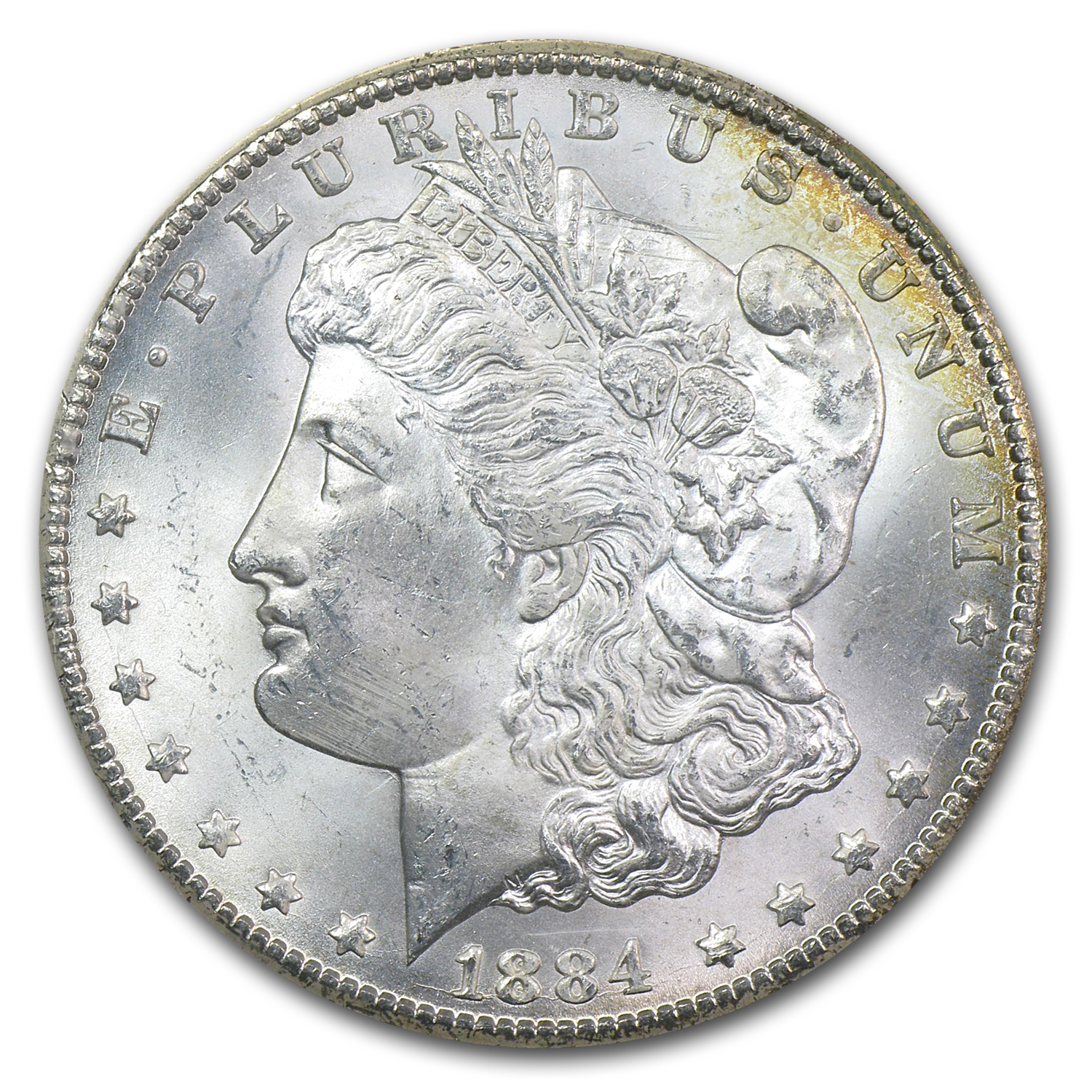 1884-CC Morgan Dollar MS-65 NGC (GSA Certified, Rev Crescent)