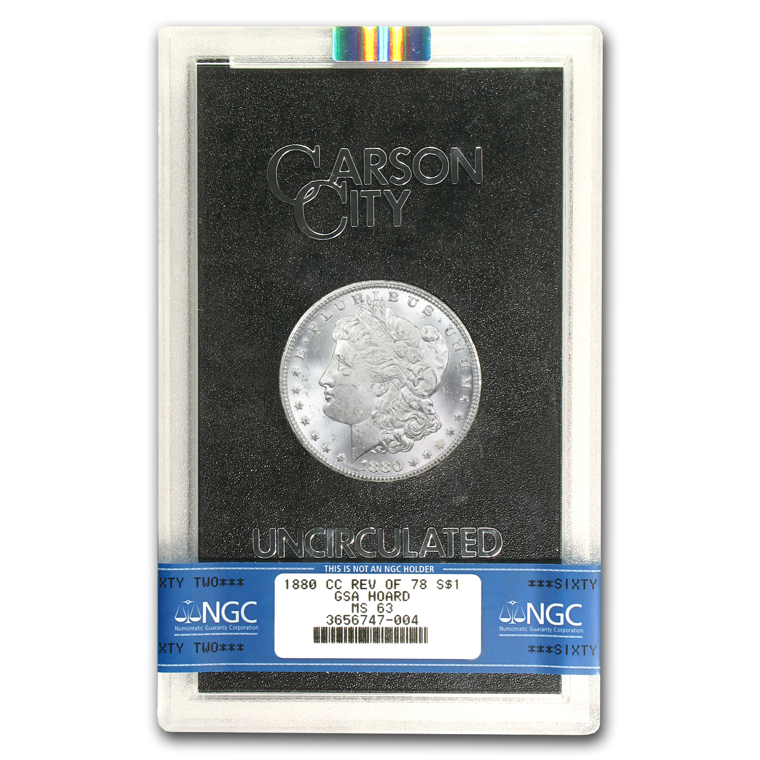 1880-CC Morgan Dollar Rev of 78 MS-63 NGC (GSA)