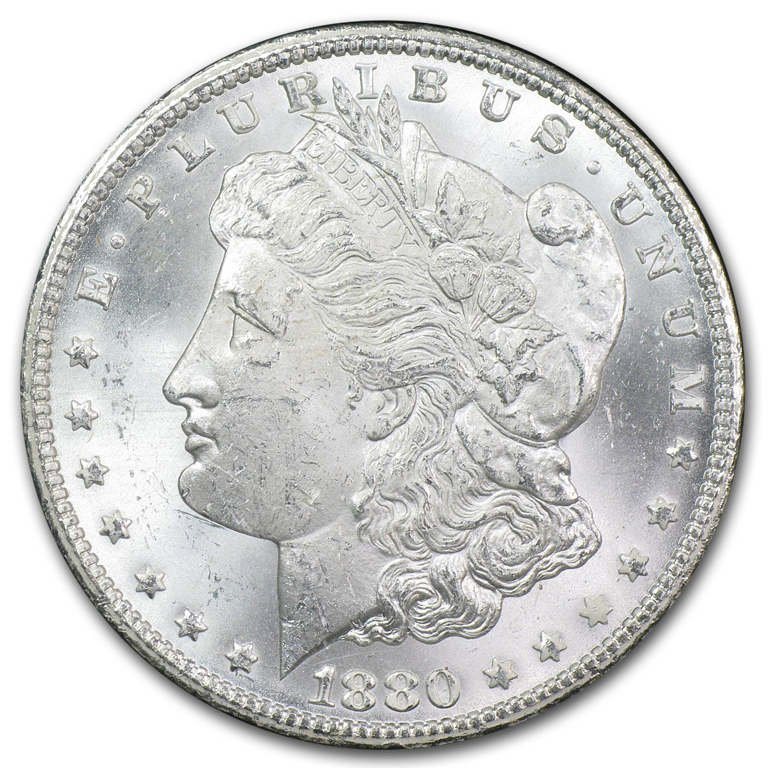 1880-CC Reverse of 1878 Morgan Dollar MS-63 NGC - GSA Certified