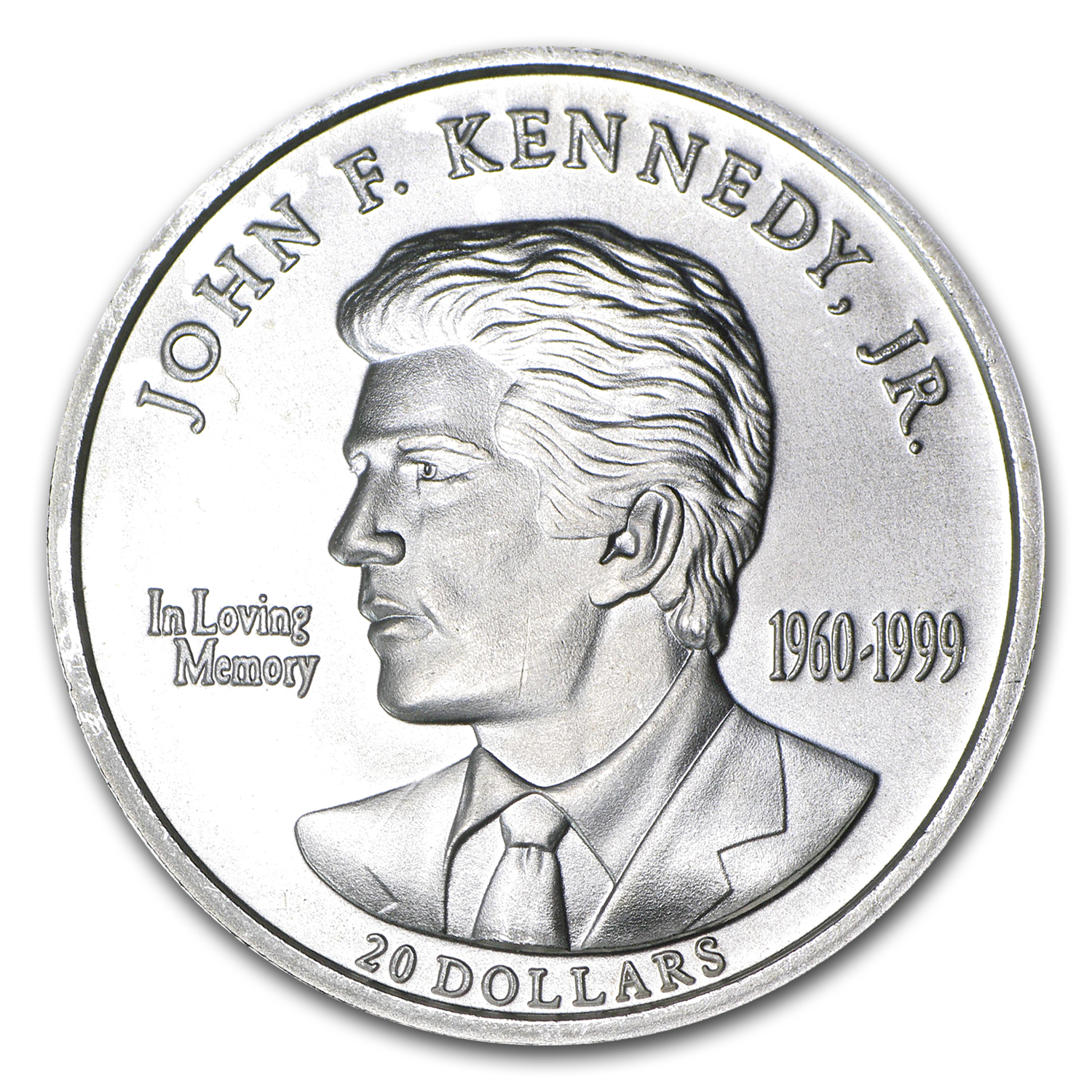 2000 Liberia 1 oz Silver $20 JFK Jr
