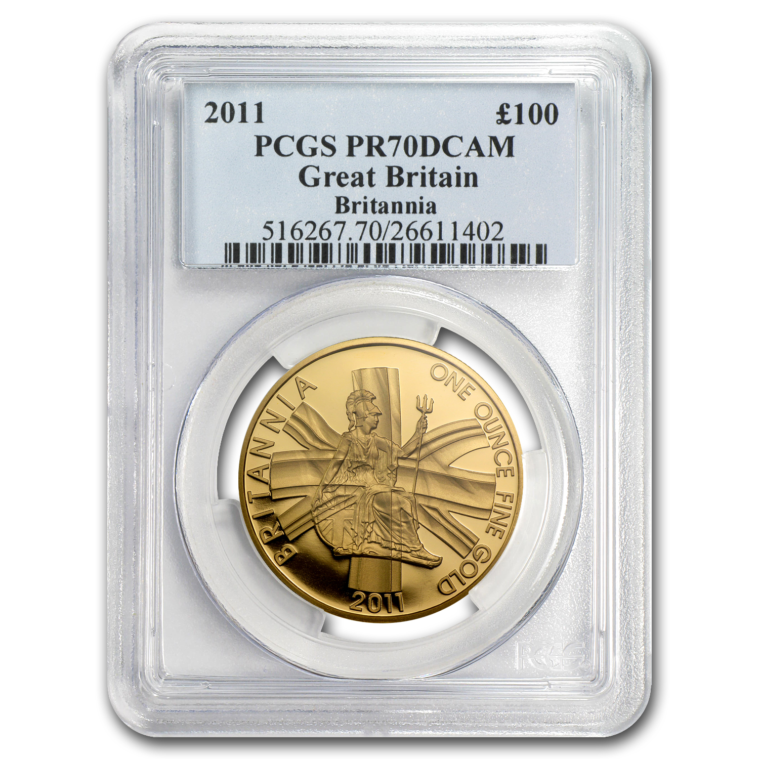 2011 1 oz Proof Gold Britannia PR-70 DCAM PCGS - Registry Set