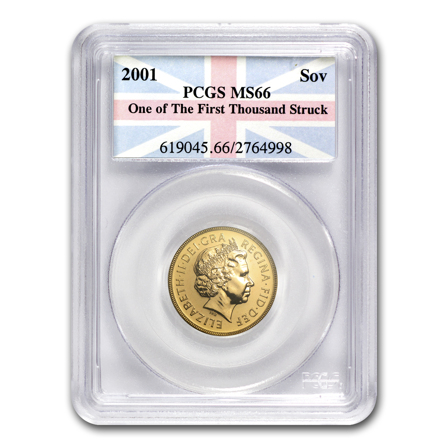 Great Britain 2001 Gold Sovereign First Strike MS-66 PCGS