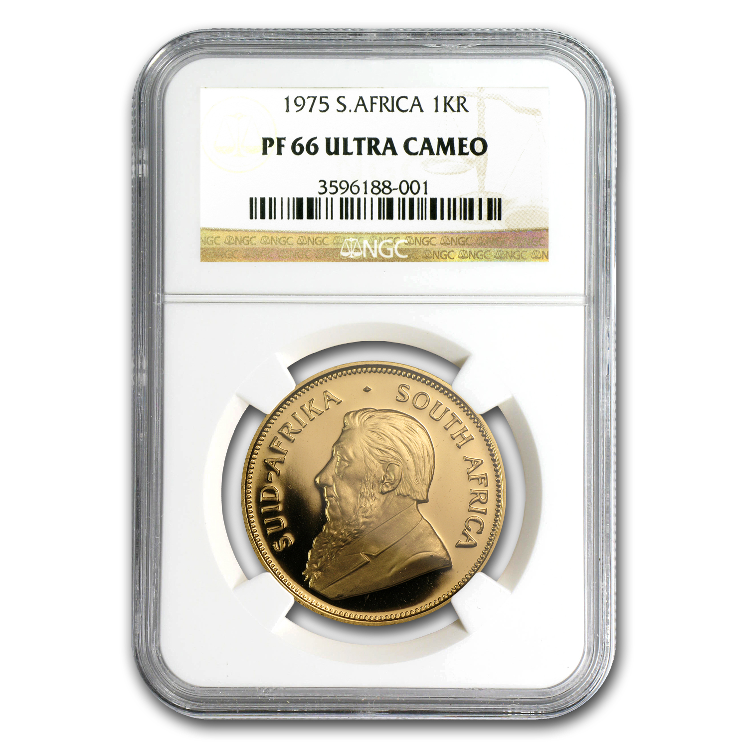 1975 1 oz Gold South African Krugerrand PF-66 UCAM NGC