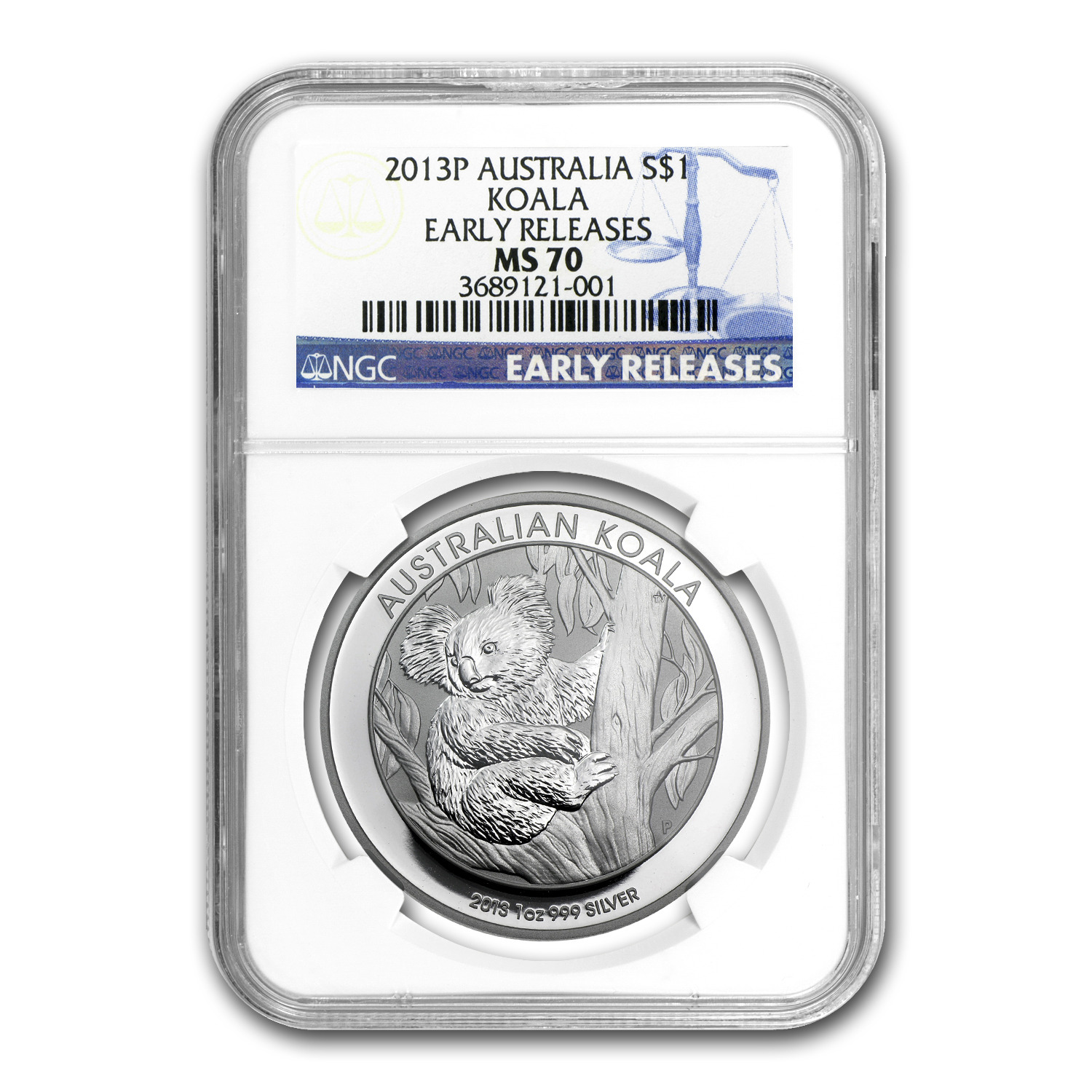 2013-P Australia 1 oz Silver Koala MS-70 NGC (Early Release)