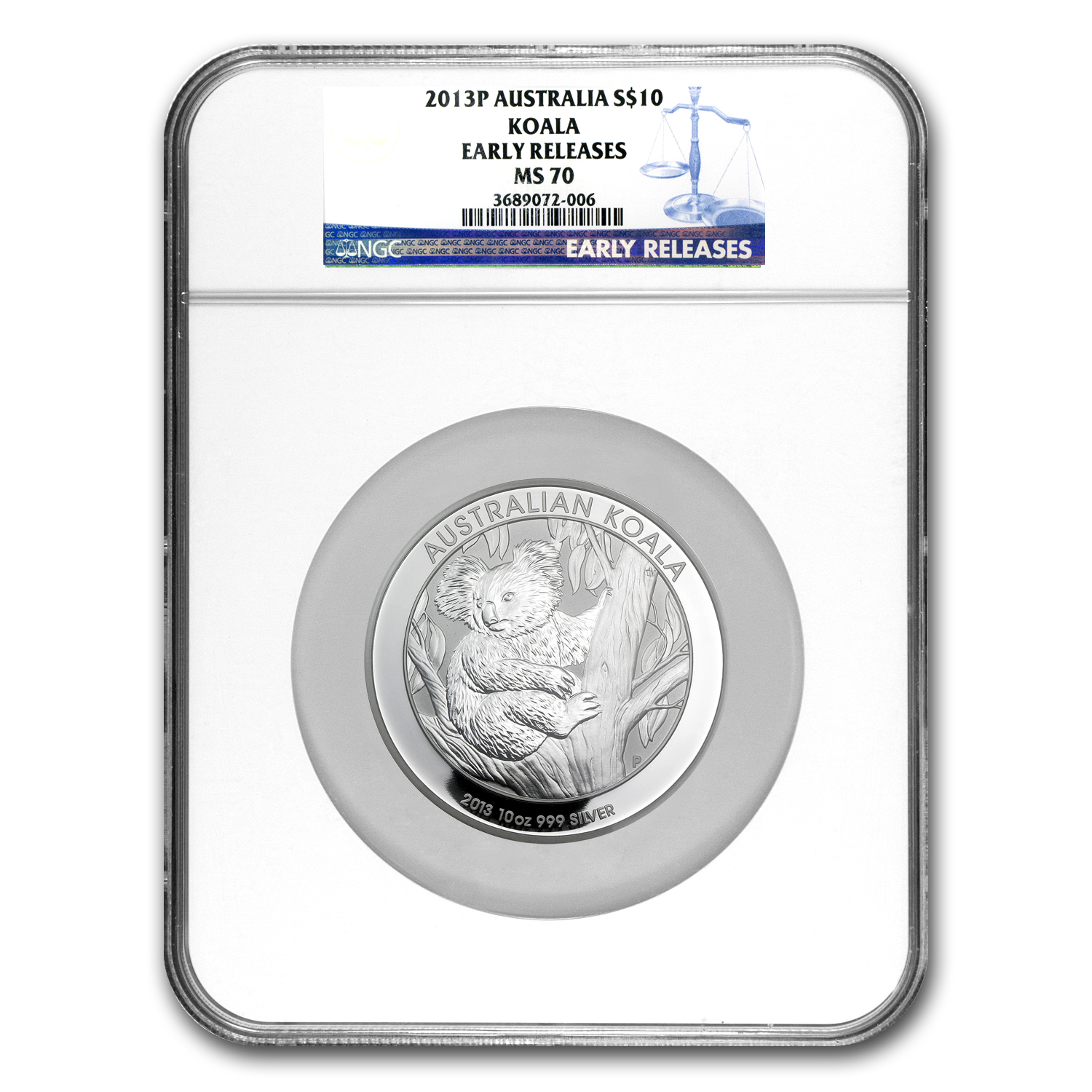 2013-P 10 oz Silver Australian Koala MS-70 NGC (Early Releases)