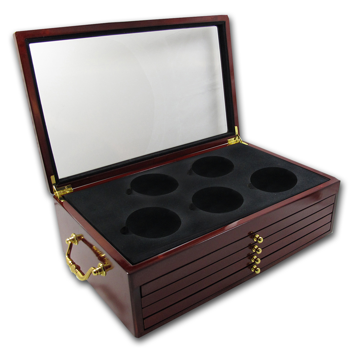 5-Tier Custom Wood Display Box for 25 - Coin ATB Set