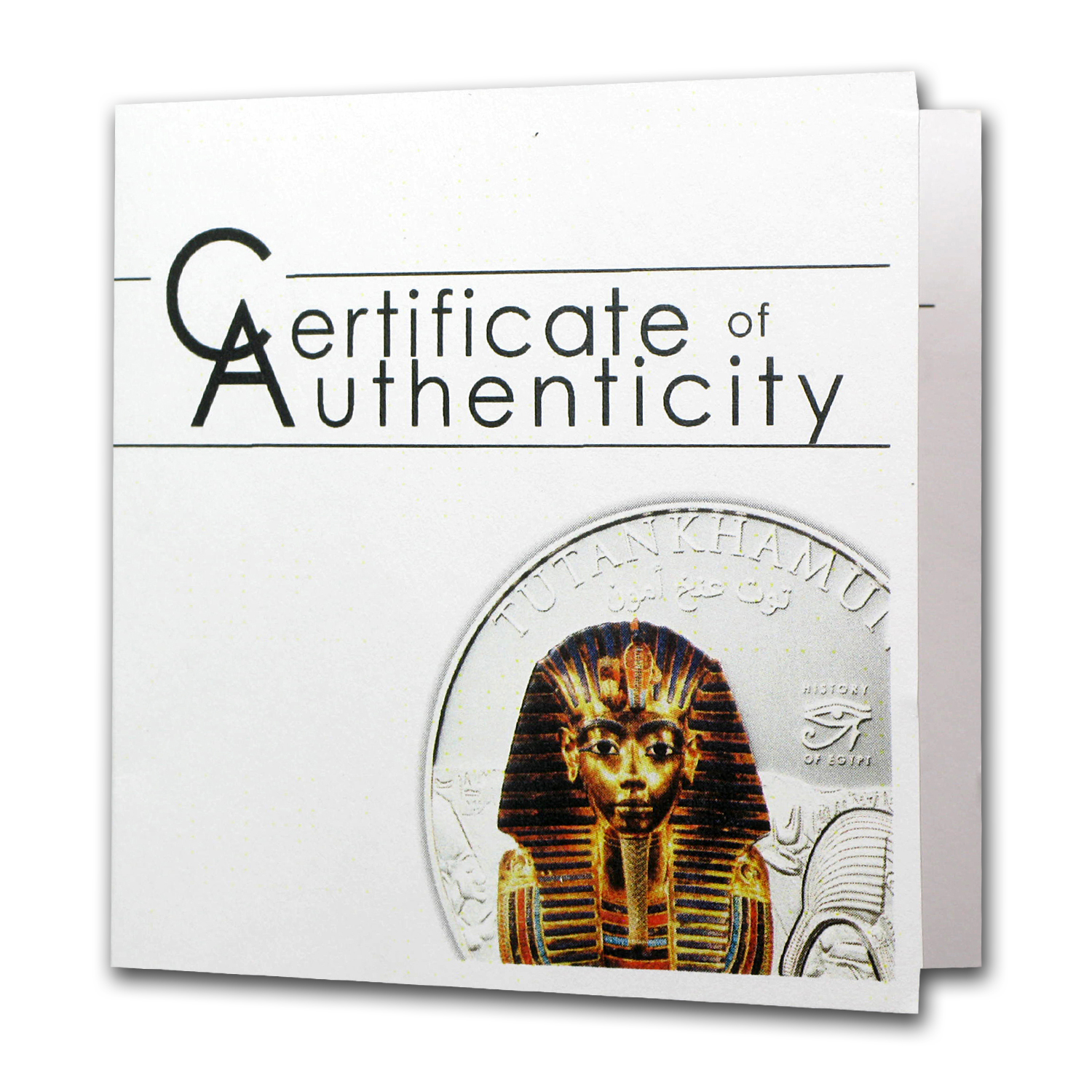 Cook Islands 2012 Proof Silver $5 History of Egypt - Tutankhamun