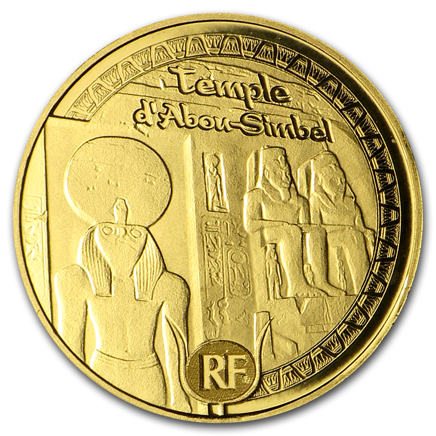 2012 1/2 gram Proof Gold €5 UNESCO Egyptian Heritage Abu Simbel