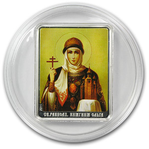 Cook Islands 2011 $5 Patron Saints - St. Olga
