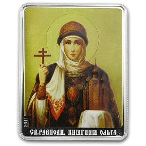 2011 Cook Islands $5 Patron Saints St. Olga