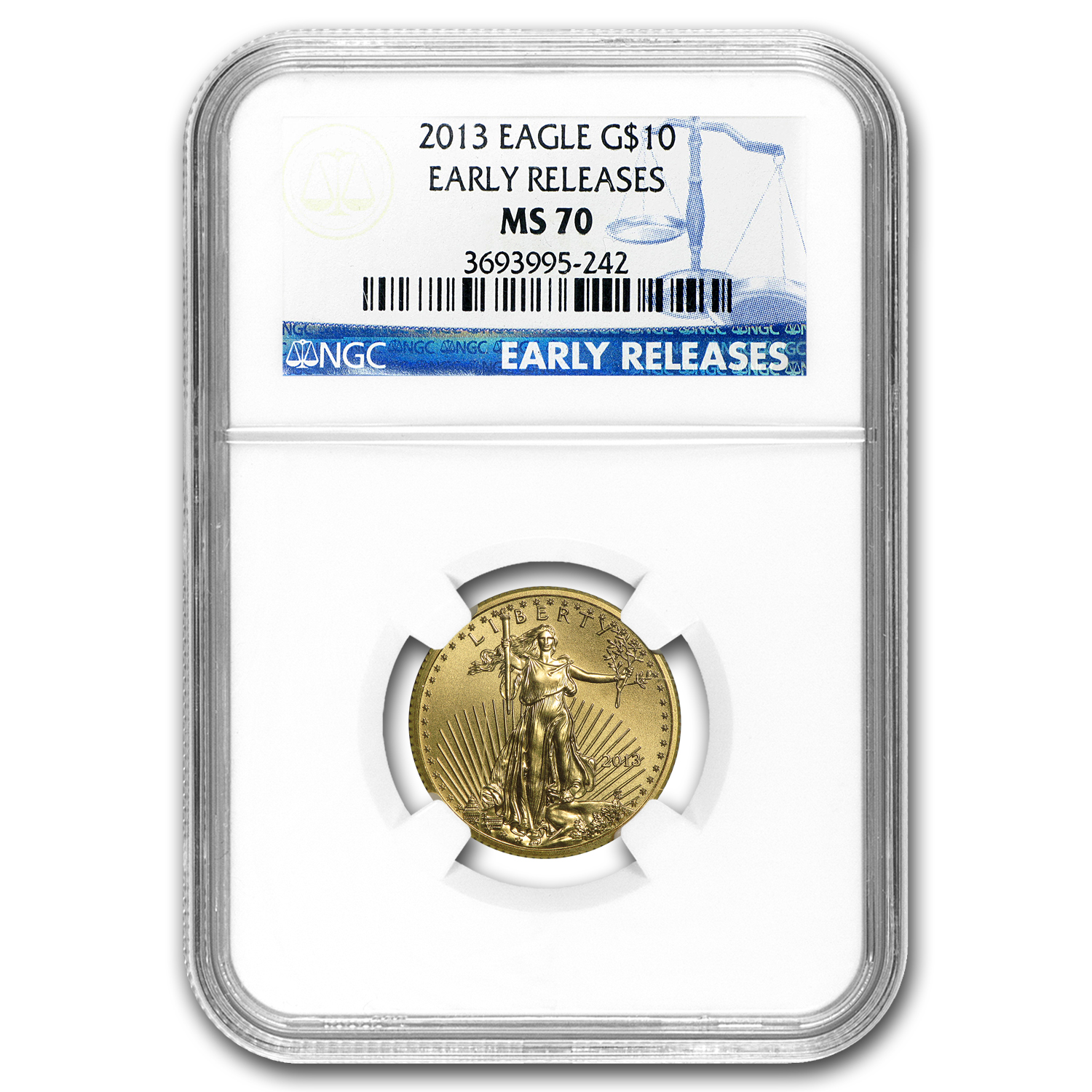 2013 1/4 oz Gold American Eagle MS-70 NGC (Early Releases)