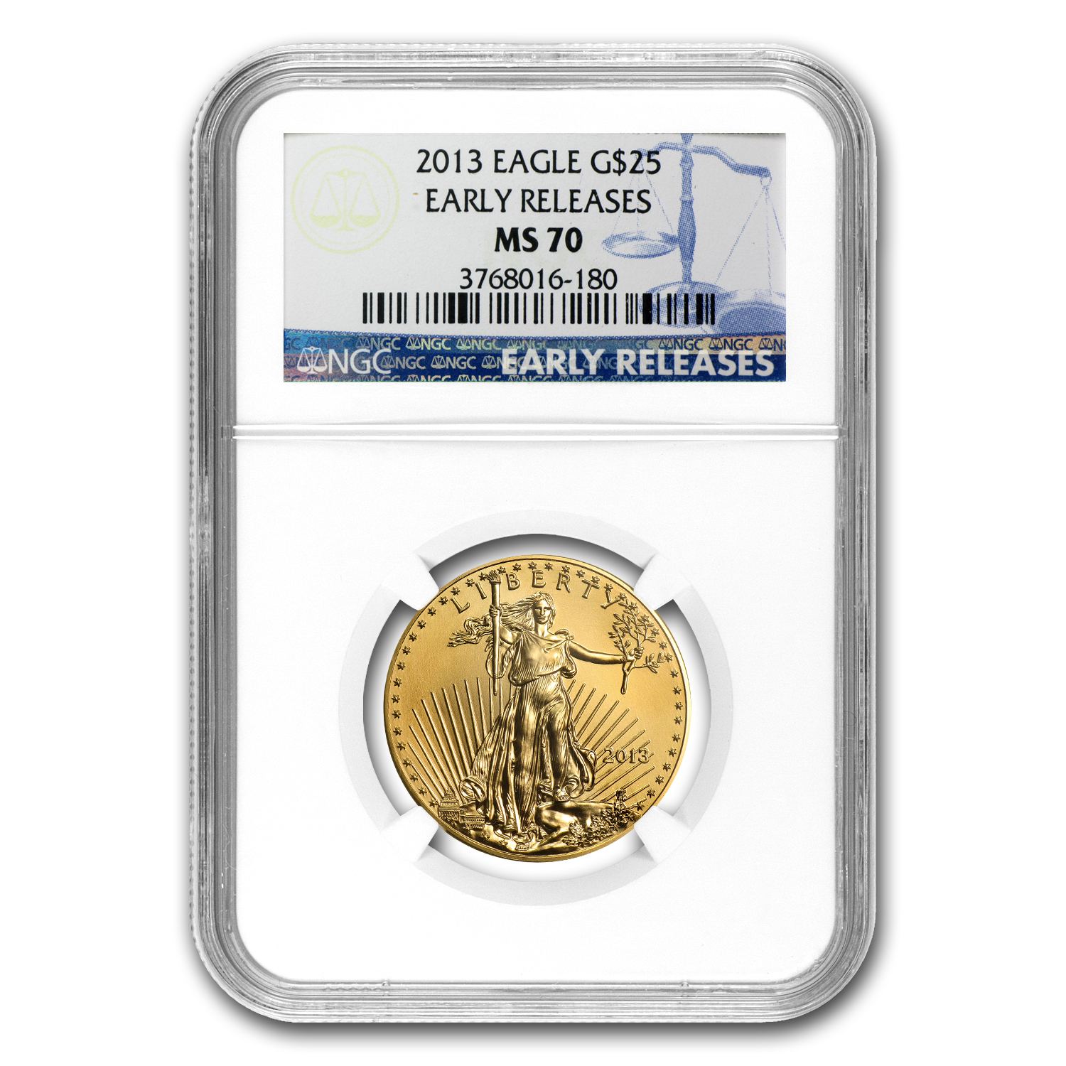 2013 4-Coin Gold American Eagle Set MS-70 NGC Early Releases