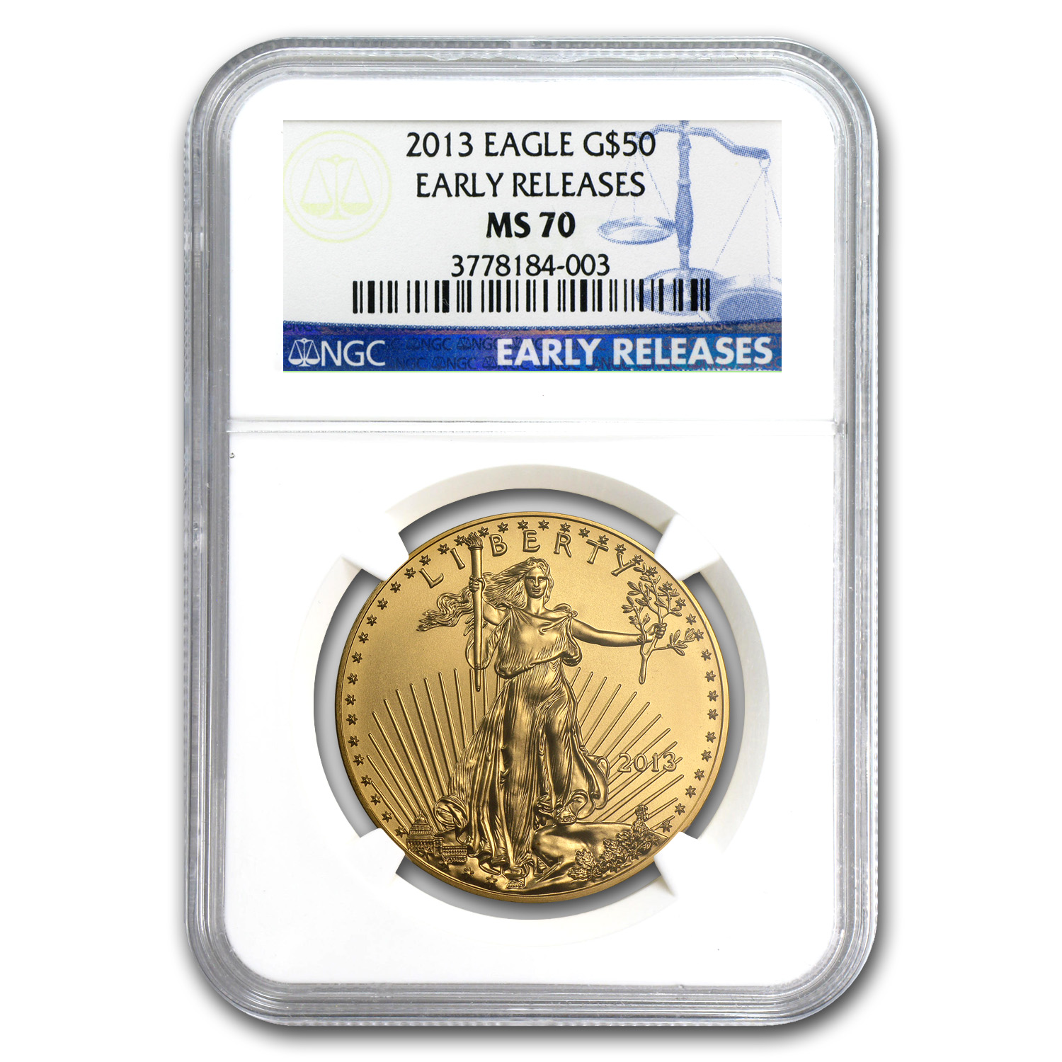 2013 1 oz Gold American Eagle MS-70 NGC (Early Releases)