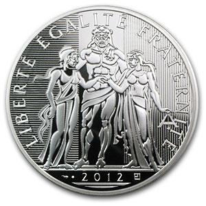 2012 France Silver €100 Hercules (Face Value Coins)