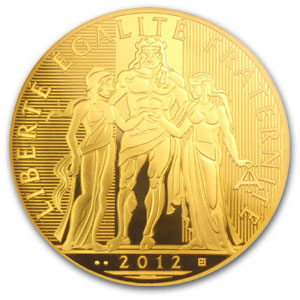 2012 Gold €5000 Hercules BU (Face Value Coin)