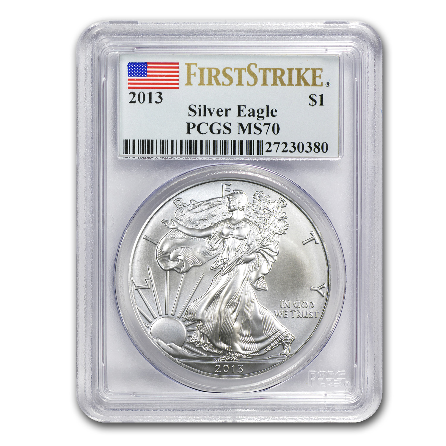 2013 Silver American Eagle - MS-70 PCGS - First Strike