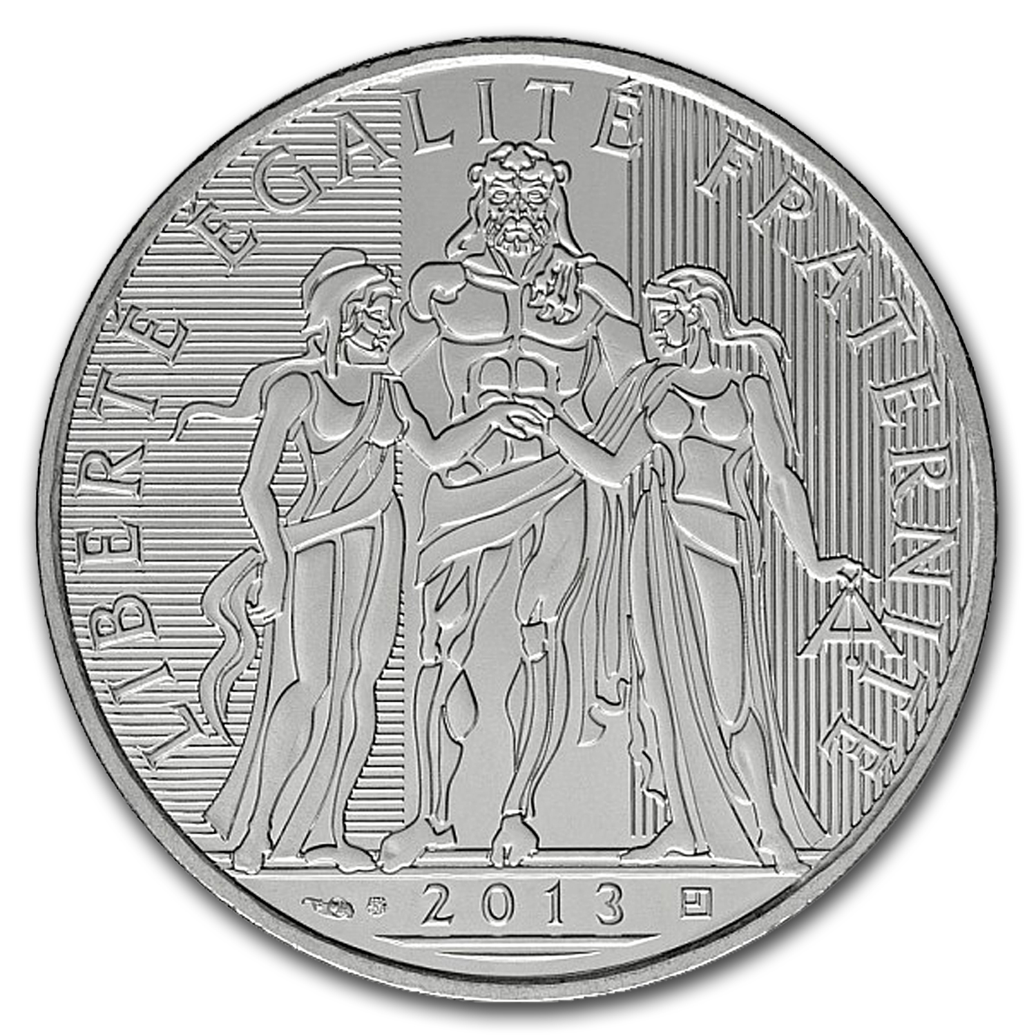 2013 France Silver €10 Hercules (Face Value Coins)