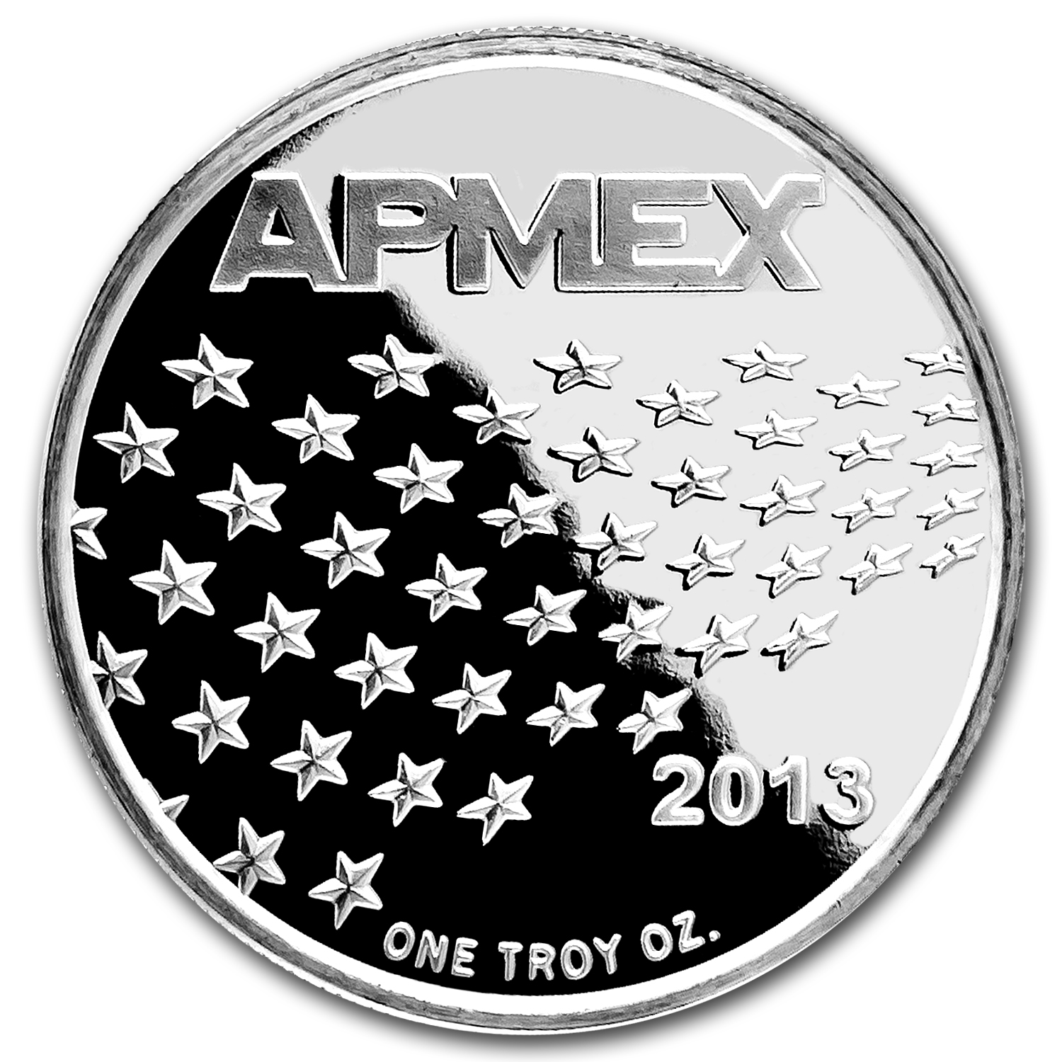 1 oz Silver Round - APMEX (2013 Star and Stripes)