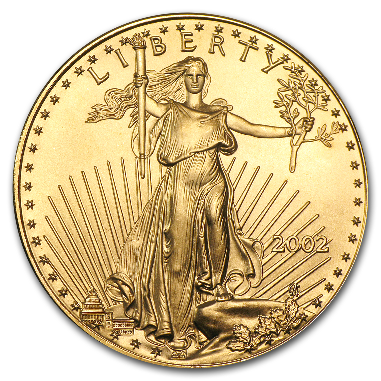 2002 1 oz Gold American Eagle BU