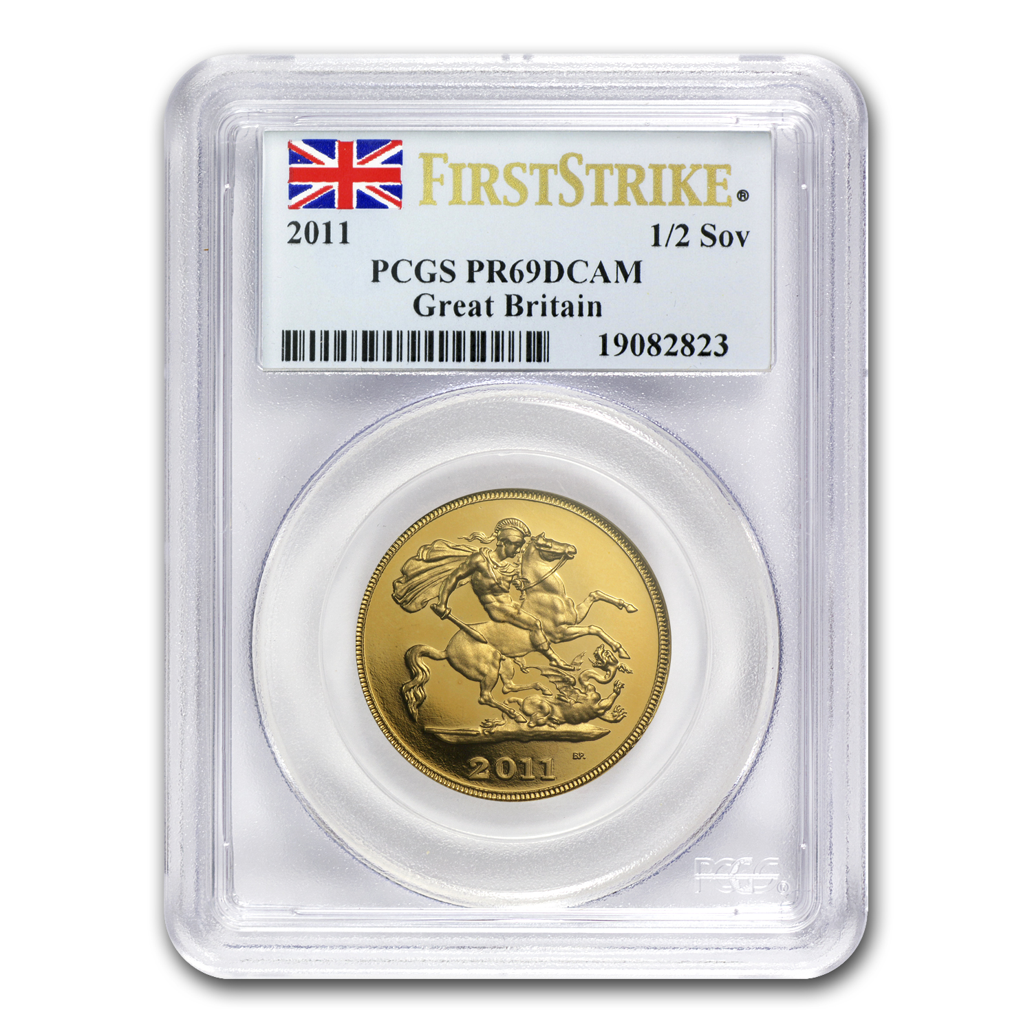 Great Britain 2011 Gold 1/2 Sovereign PR-69 PCGS (1st Strike)