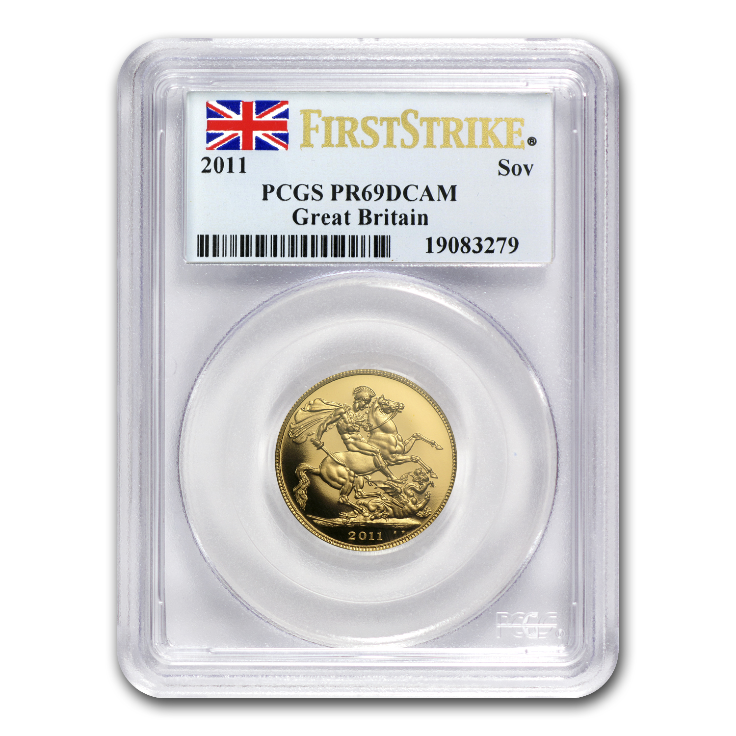 2011 Great Britain Gold Sovereign PR-69 PCGS (First Strike)
