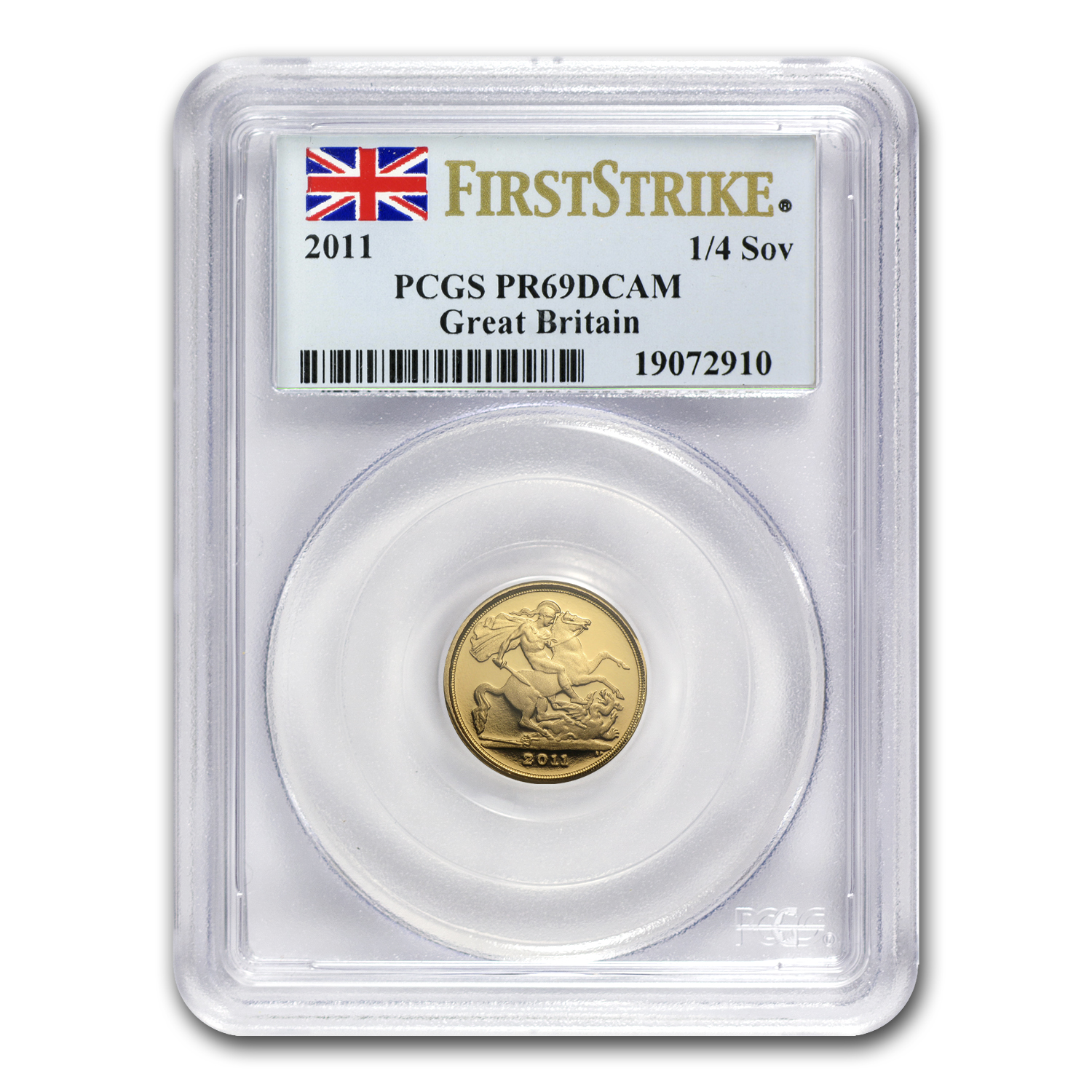 2011 Great Britain Gold 1/4 Sovereign PR-69 PCGS (First Strike)