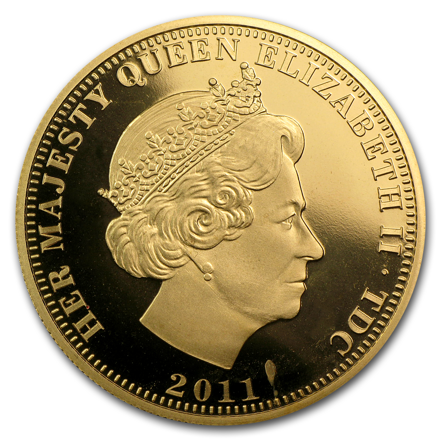 2011 Tristan da Cunha Proof Gold Double Sovereign Royal Wedding