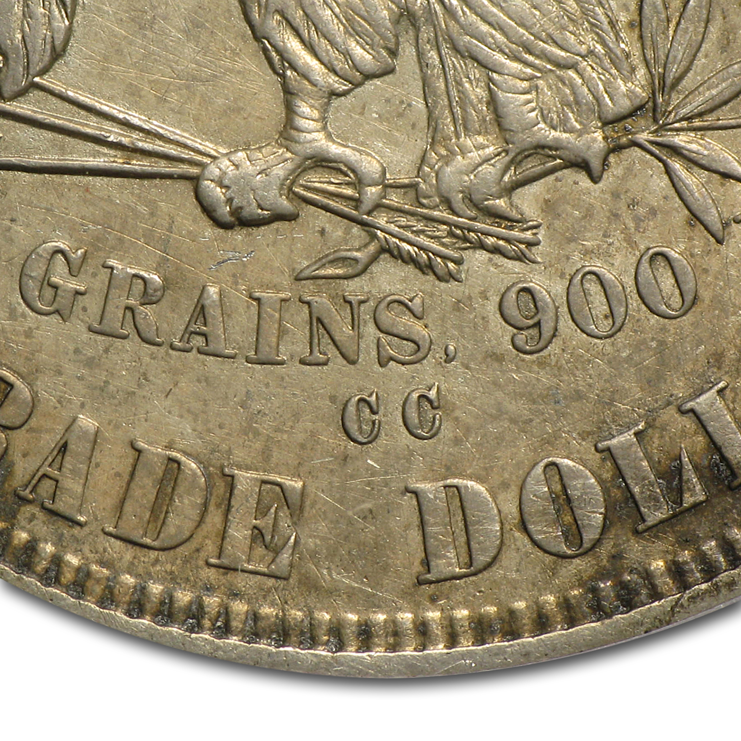 1877-CC Trade Dollar - Extra Fine Details - Tooled PCGS