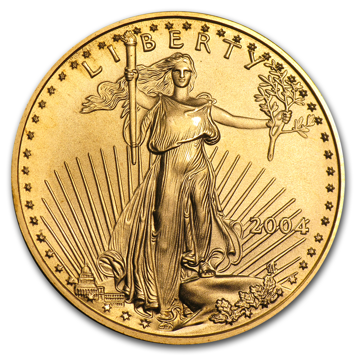 2004 1/2 oz Gold American Eagle BU