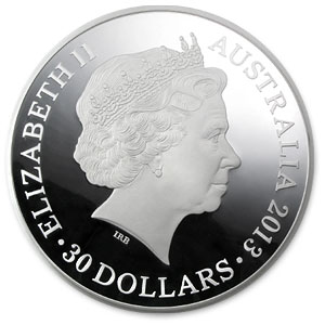 2013 Australia 1 kilo Silver Year of the Snake Proof-Like