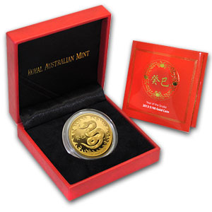 2013 Australia 1 oz Proof Gold Year of the Snake