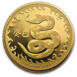 Royal Australian Mint 2013 1 oz Proof Gold Year of the Snake