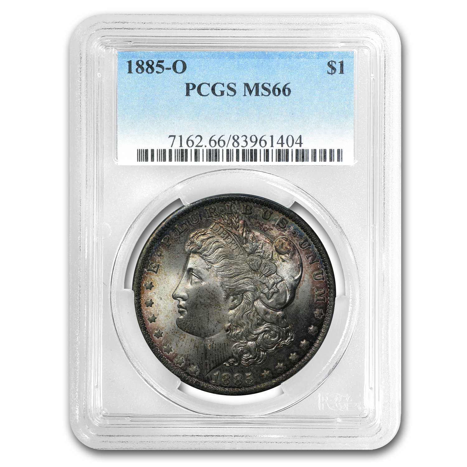 1878-1904 Morgan Dollars - MS-66 PCGS - Toned Obverse or Reverse