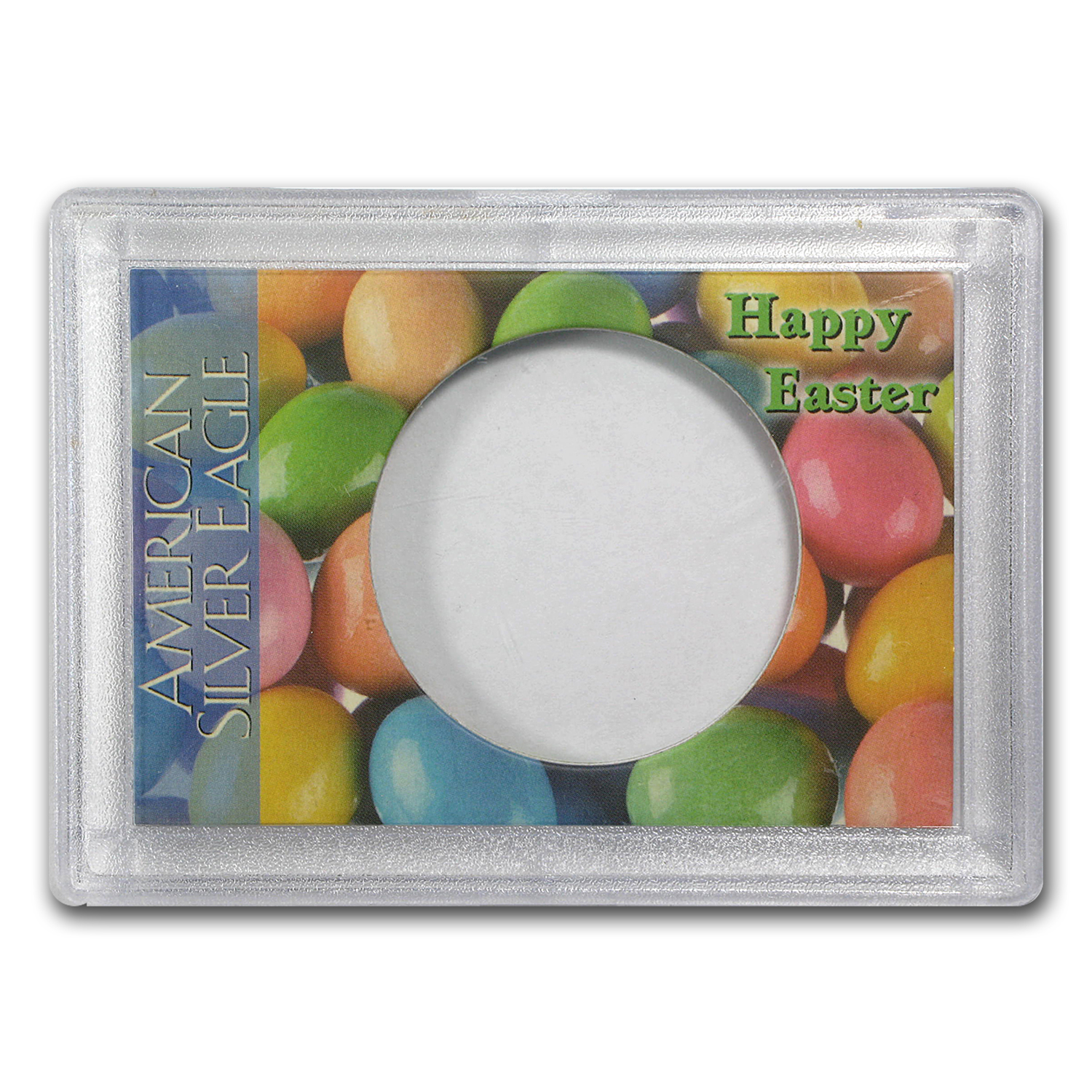 Silver American Eagle Harris Holder (Happy Easter Design)