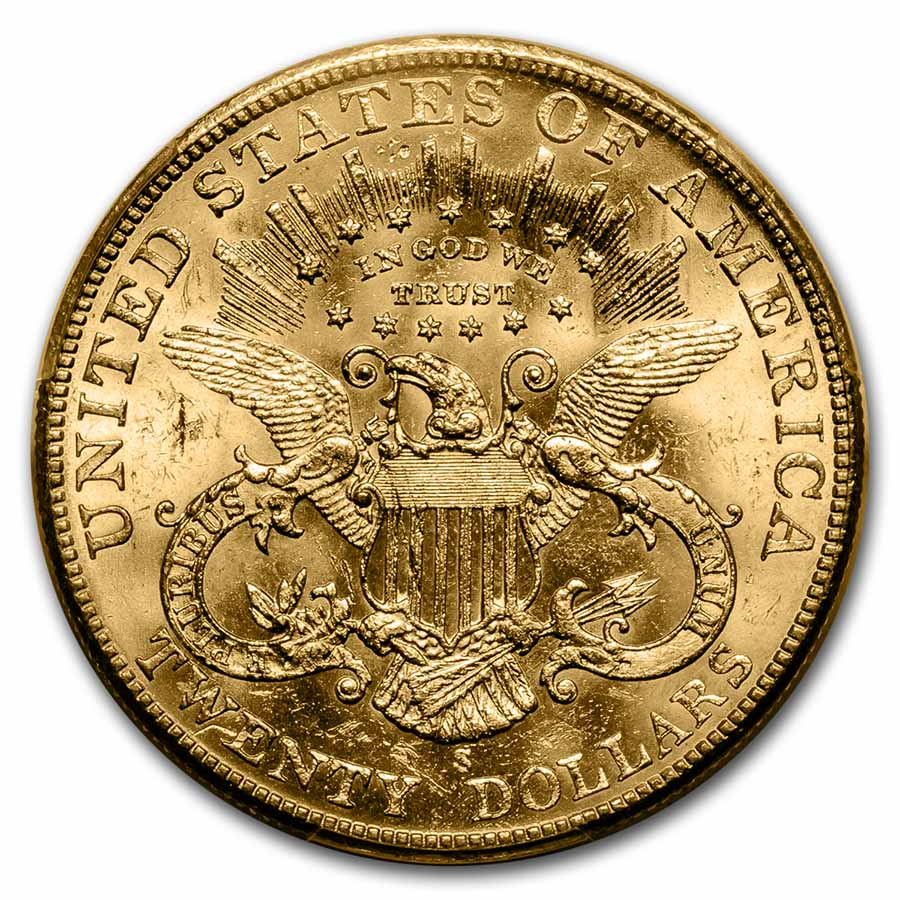 1901-S $20 Gold Liberty Double Eagle - MS-63 PCGS
