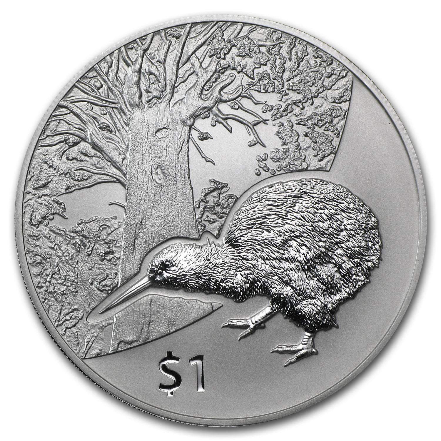 2013 1 oz Silver New Zealand Treasures $1 Kiwi Specimen (Capsule)