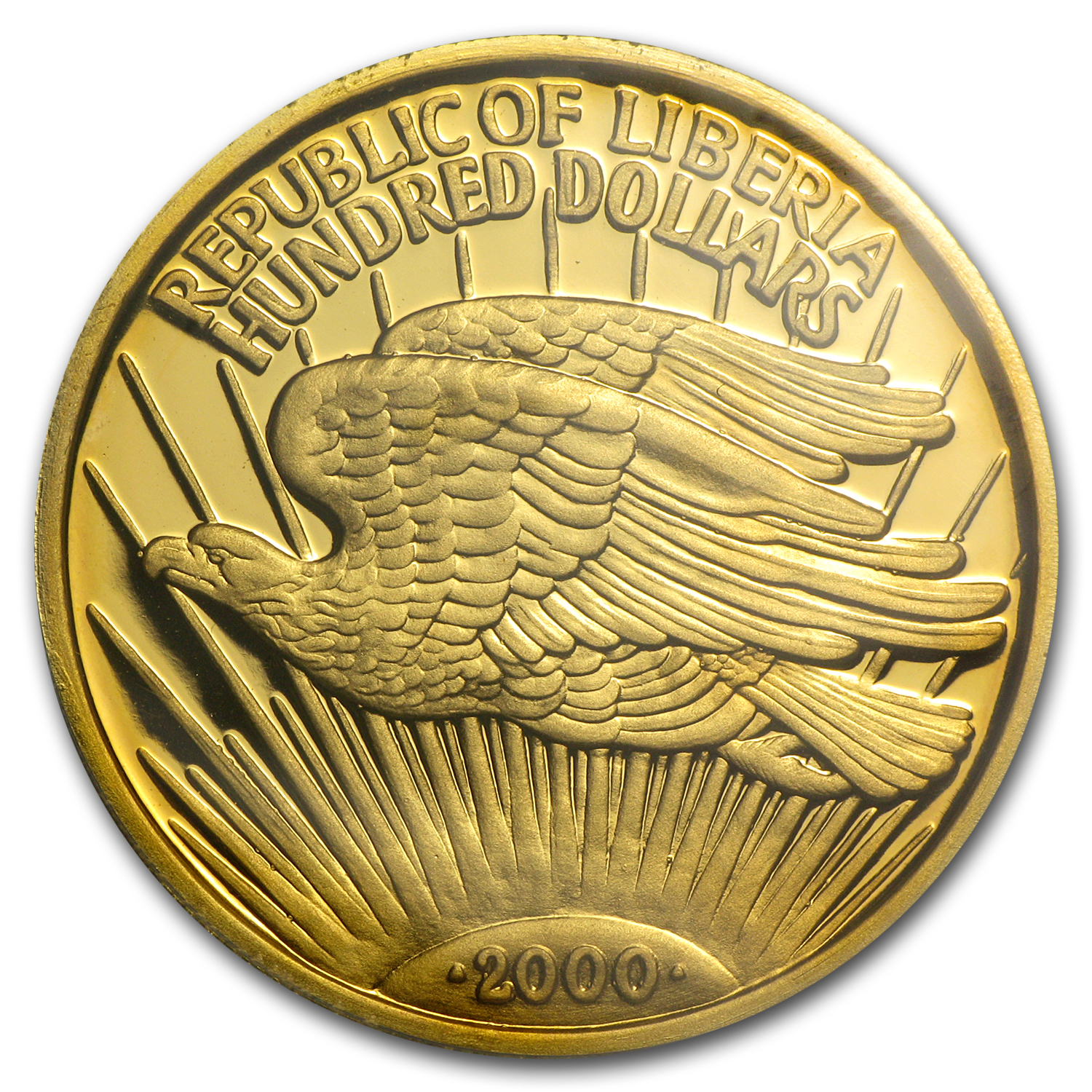 2000 Liberia 1 oz Proof Gold 100 Dollars PR-69 PCGS