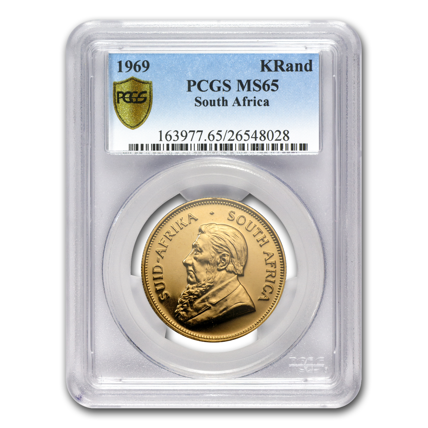 1969 1 oz Gold South African Krugerrand MS-65 PCGS