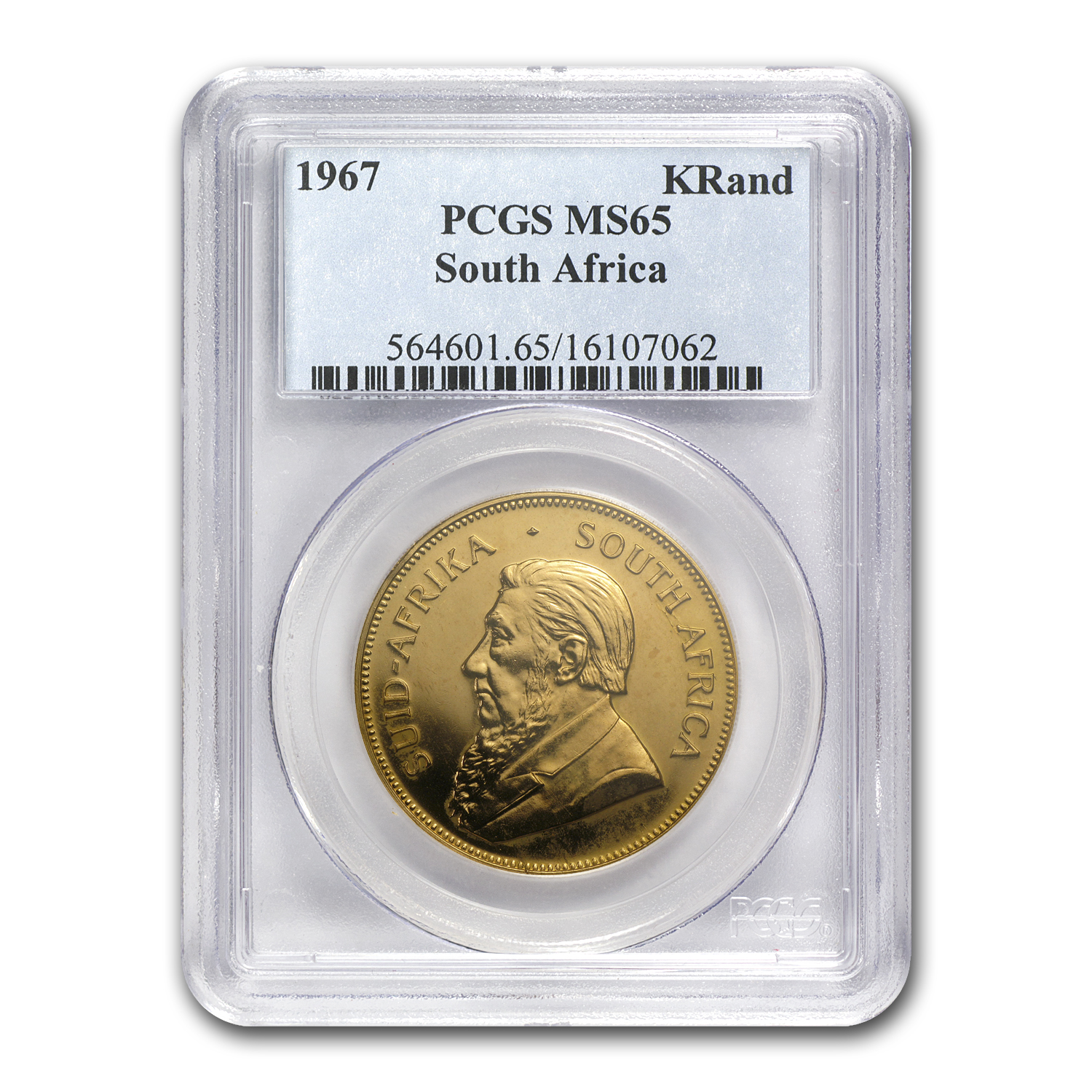 1967 South Africa 1 oz Gold Krugerrand MS-65 PCGS