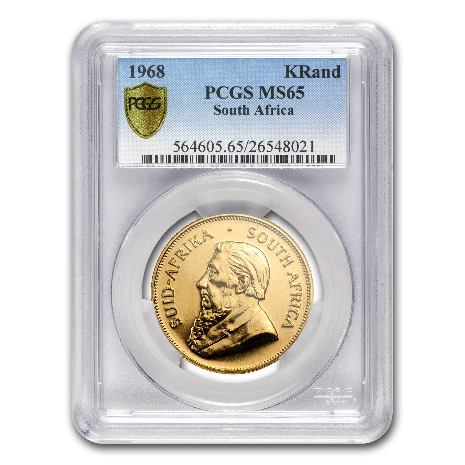1968 1 oz Gold South African Krugerrand PCGS MS65